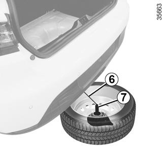 e guide renault com nieuwe clio zorg voor uw auto banden lekke band reservewiel. Black Bedroom Furniture Sets. Home Design Ideas
